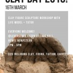 Clay Day 2018 - Life Drawing Happenings figure sculpture session