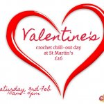 Crochet chill out day with Valentines theme