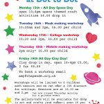 February half term workshops at Dot to Dot