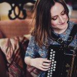 Hazel Askew (voice/concertina), Laurel Swift (fiddle/voice) and