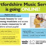 Hertfordshire Music Service offering online lessons