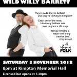 John Otway and Wild Willy Barrett are coming to Kimpton.
