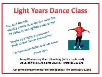 Light Years Adult Dance Class - Hertford