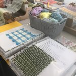 Loom woven textiles - weaving patterns on a Rigid heddle loom