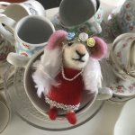 Mother's Day Mice Needle Felting with Vintage Tea & Cake