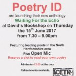 Poetry ID Anthology Launch