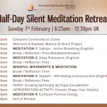 Virtual Half-Day Silent Meditation Retreat | Sunday 7th February