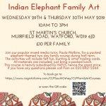 Whitsun Family Art - Indian Elephant Theme