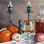 Cognac time-Oil Paintings by Sabbi Gavrailov