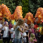 GSTARS Carnival Dragon at Royston Arts Festival 2016