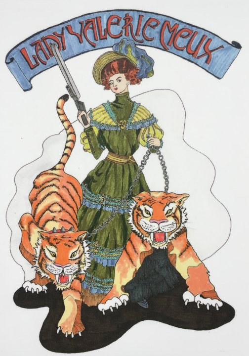 Lady Meux and the two tigers