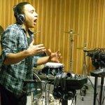Robbie from UR Crew in the studio