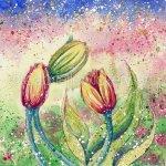 Tulip Whispers - Original Watercolour Painting