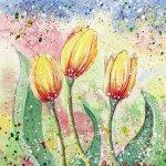 Yellow Tulips - Original Watercolour Painting