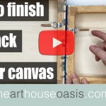 How to Video- Finish the back of your canvas with D-rings & cord