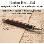 Notion Beautiful: productivity tools for creators
