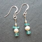 Blues and Pearls / Handmade silver, pearl and semi-precious gemstones.