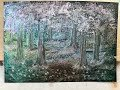 Iridescent Watercolour painting - Evening in the woods