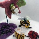 Bees and Ladybugs Felting Garden Workshop