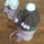 Bunny Bums Garden Felting Workshop