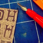Lino Printed Gift Wrap & Tags - XMAS WEDNESDAY WORKSHOP