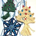 Macrame Christmas Decorations at the Making Space