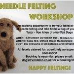Needle Felting Workshop - Heartfelt Dogs.