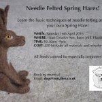 Needle Feting Workshop Spring Hares!