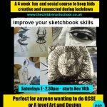 Saturday Artschool online sketchbook workshops