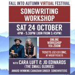 Songwriting Workshop (Fall into Autumn Virtual Festival)
