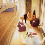 A mezzanine live/work apartment