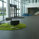 Hand Tufted Circular and Lozenge Shaped Reception Area Rugs