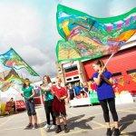 Holmfirth Arts Festival Banner Parade