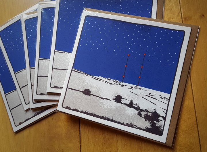 Screen printed Christmas cards of Pole Moor