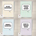 Yorkshire speech bubble cards