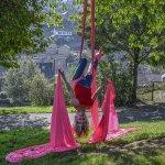 Aerial artist launches Holmfirth Arts Festival