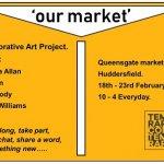 Artists in vacant stalls in Queensgate Market