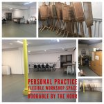 Flexible work space - perfect for personal practise