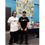 Promoting Kirklees music at Freshers Fair