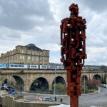 'WORK' by Sir Antony Gormley arrives in Dewsbury
