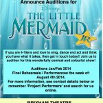 Auditions for Disneys The Little Mermaid Jnr - Jan/Feb 2014