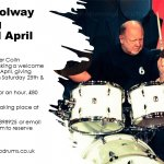 Drum Tuition with Colin Woolway, Totnes, April 2020