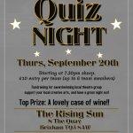 Fundraising Quiz Night at the Rising Sun