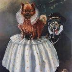 Quirky Dog Portraits on display at Cockington Court