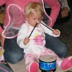 A future drummer...