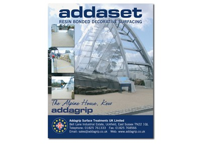 A5 Mailing for Addagrip Surface Treatments