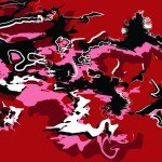 Abstract Sea red