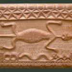 African lizard motif