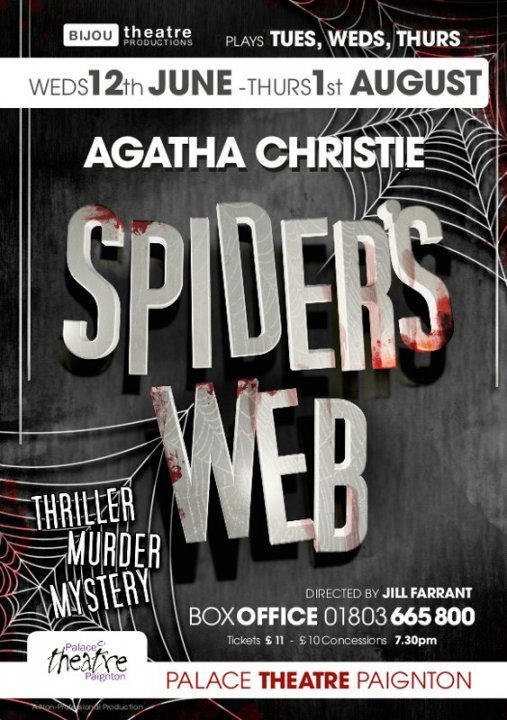 Agatha Christie's 'Spiders Web'. 12th June til 1st August 2013 -
