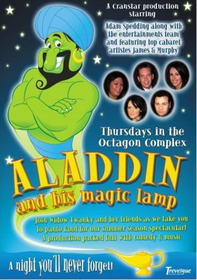 Aladdin at Trevelgue holiday park
